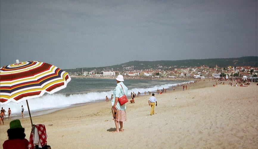 Praia da Claridade, Figueira da Foz, em 1988