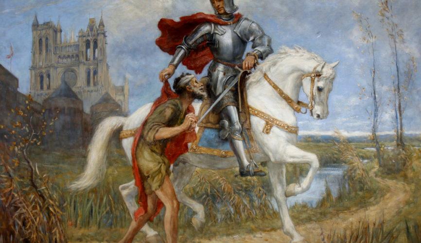 Pintura a Óleo - Wilfred Thompson - St Martin And The Beggar - 1918, Florença